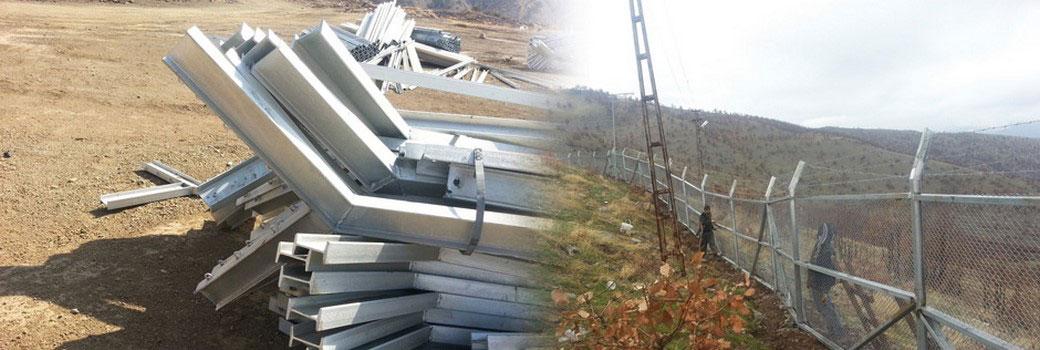 Elektro Galveniz Tel Çit Direk