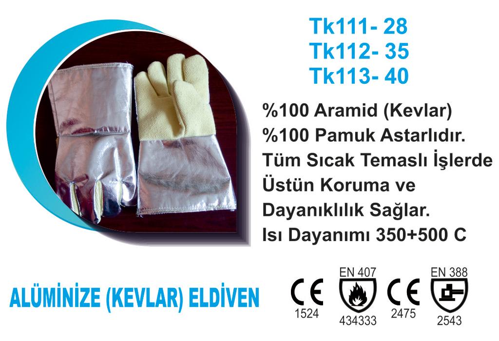 Alümünize (Kevlar) Eldiven TK113-40