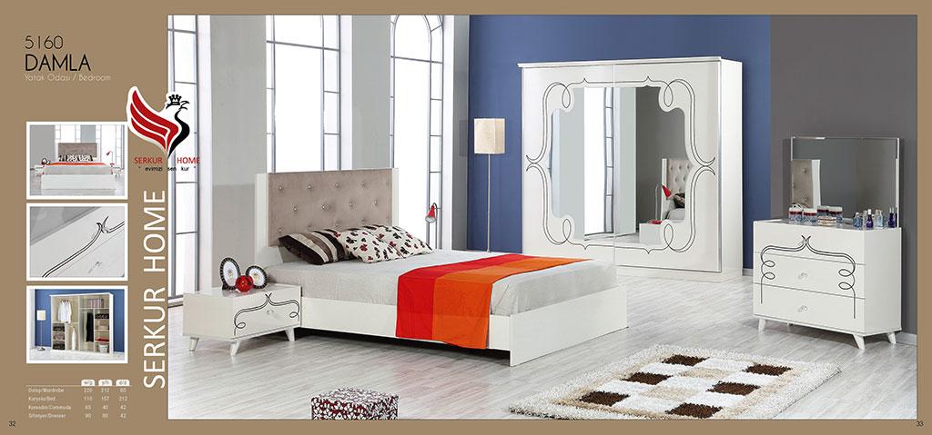 5160-Damla Yatak Odası