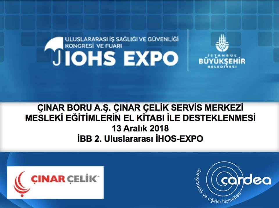 İBB 2018 IHOS EXPO Değişim+ Kongresi Mesleki Eğitim ve RD Saha Kontrolleri Sunumları